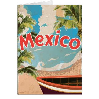 Poster das férias do vintage de México Cartoes