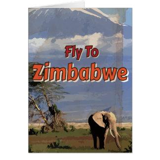 Poster das férias do vintage de Zimbabwe Cartão