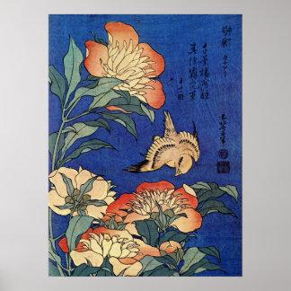 """Poster das """"flores"""" de Hokusai"""