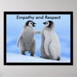 Poster das habilidades da vida da empatia e do res