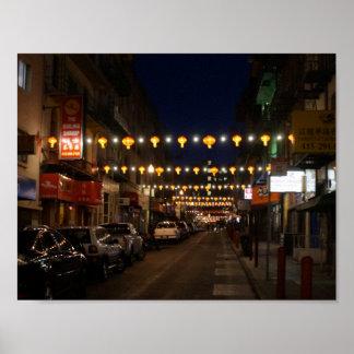 Poster das lanternas de San Francisco Chinatown