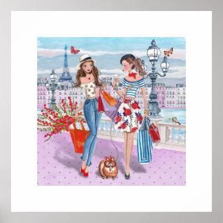 Poster das meninas | Paris| da compra Pôster