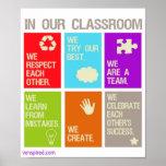 Poster das normas da sala de aula