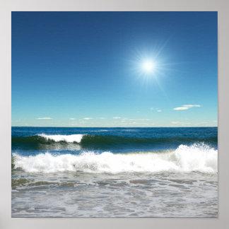 Poster das ondas de oceano