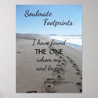 Poster das pegadas do Soulmate com poema