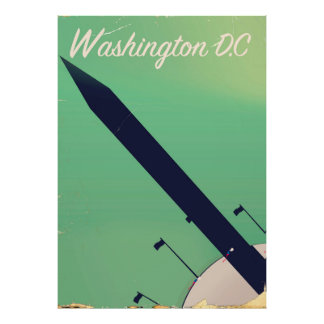 Poster das viagens vintage da C.C. de Washington