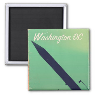 Poster das viagens vintage da C.C. de Washington Imã
