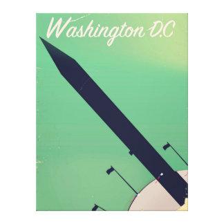 Poster das viagens vintage da C.C. de Washington Impressão Em Tela