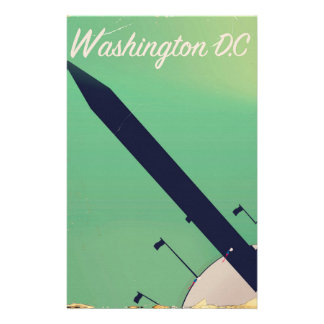 Poster das viagens vintage da C.C. de Washington Papelaria