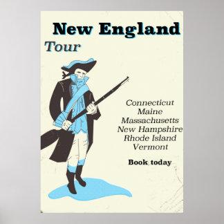 Poster das viagens vintage da excursão de Nova
