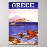 Poster das viagens vintage da piscina