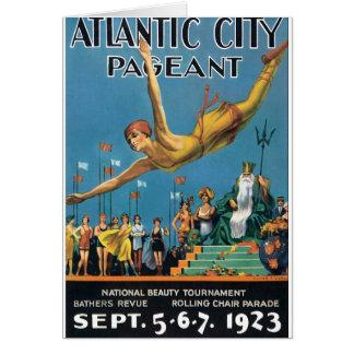 Poster das viagens vintage da representação cartão comemorativo