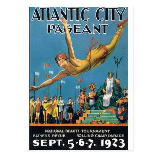 Poster das viagens vintage da representação cartão postal