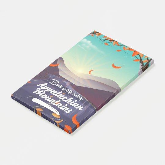 Poster das viagens vintage das montanhas apalaches sticky note