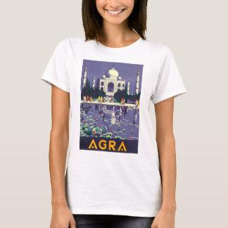 Poster das viagens vintage de Agra Camiseta