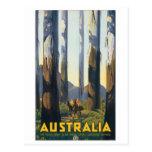Poster das viagens vintage de Austrália Cartão Postal