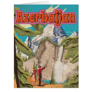 Poster das viagens vintage de Azerbaijan Cartão Comemorativo Grande