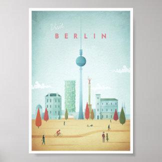 Poster das viagens vintage de Berlim Pôster