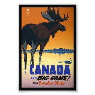 Poster das viagens vintage de Canadá Impressão De Foto