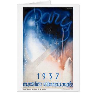 Poster das viagens vintage de France Paris Cartão Comemorativo