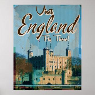 Poster das viagens vintage de Inglaterra Pôster