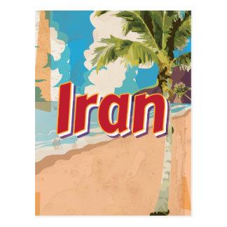 Poster das viagens vintage de Irã Cartão Postal
