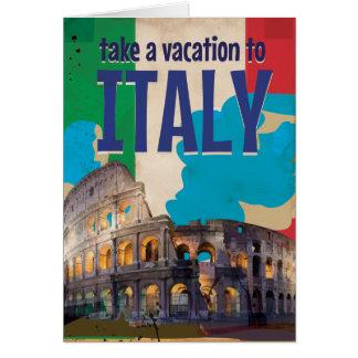 Poster das viagens vintage de Italia Cartão Comemorativo