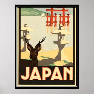 Poster das viagens vintage de Japão