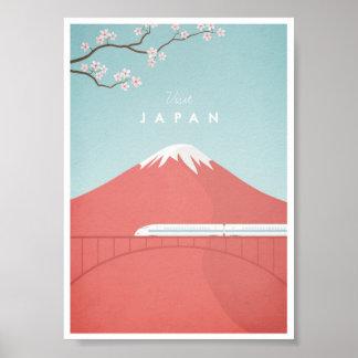 Poster das viagens vintage de Japão Pôster