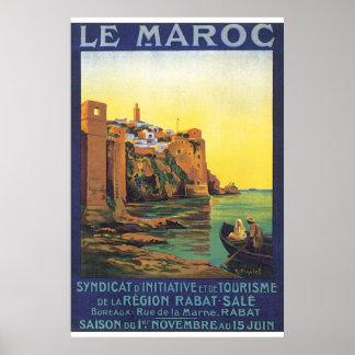 Poster das viagens vintage de Le Maroc Pôster