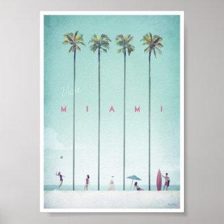 Poster das viagens vintage de Miami Pôster