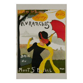 Poster das viagens vintage de Michel da rua de
