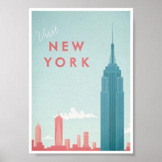 Poster das viagens vintage de New York Pôster