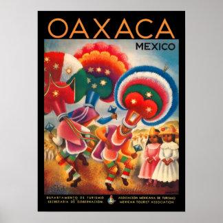 Poster das viagens vintage de Oaxaca México