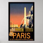"Poster das viagens vintage de ""Paris"""