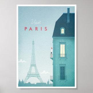 Poster das viagens vintage de Paris Pôster