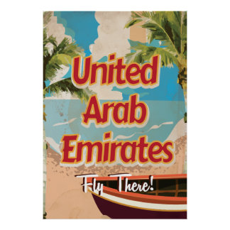 Poster das viagens vintage de United Arab Emirates