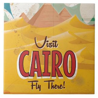 Poster das viagens vintage do Cairo Egipto da