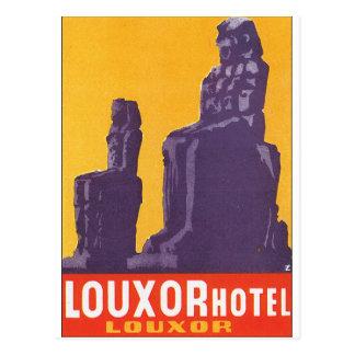 Poster das viagens vintage do hotel de Louxor Cartão Postal