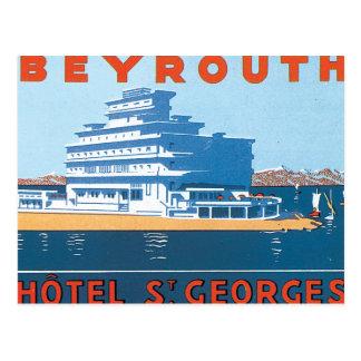 Poster das viagens vintage do St. Georges de Cartão Postal