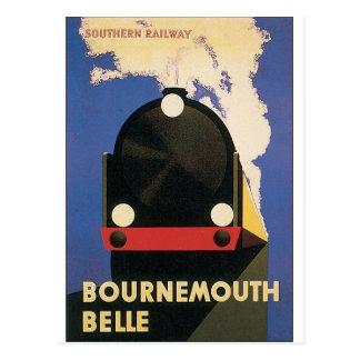 Poster das viagens vintage do trem do Belle de Cartão Postal