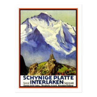 Poster das viagens vintage, Interlaken Cartão Postal