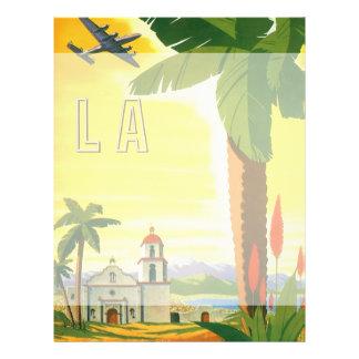 Poster das viagens vintage, Los Angeles, Califórni Panfletos Personalizado