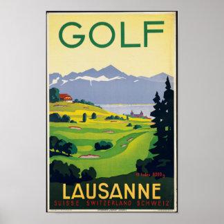 Poster das viagens vintage para Lausana