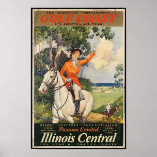 Poster das viagens vintage para Mississippi