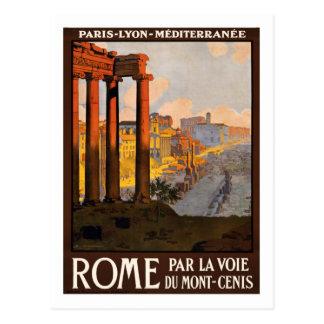 Poster das viagens vintage, Roma Cartão Postal
