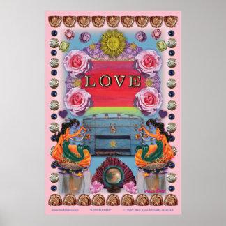 poster de 11 x 16 flores do amor