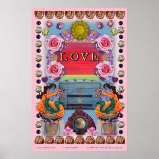 poster de 35 x 52 flores do amor