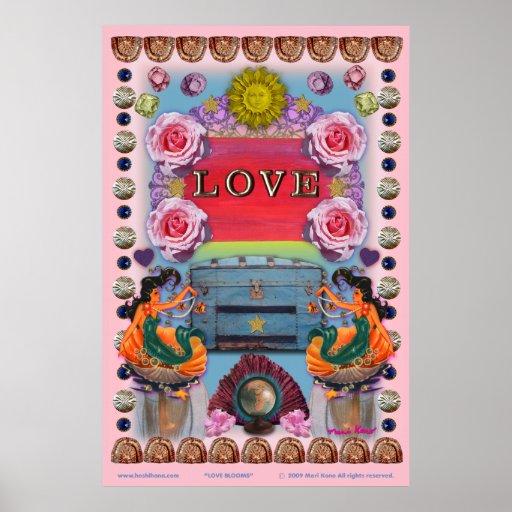 poster de 52 x 78 flores do amor