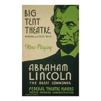 Poster de Abraham Lincoln do vintage